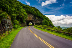 The Craggy Pinnacle Tunnel, on the Blue Ridge Park in North Caro Royalty Free Stock Images