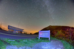 The Craggy Pinnacle visitors center night Stock Photography