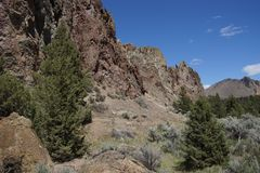 Craggy rhyolite ridge Stock Image