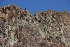 Craggy rhyolite ridge Stock Photo