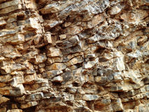 Craggy rock face close up Stock Photo