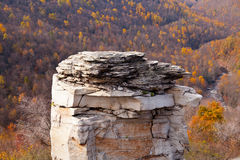 Craggy rocks in autumn Stock Photo