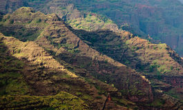 Craggy Rocks In Waimea Canyon Stock Image