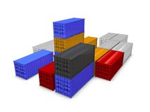 Crago containers Royalty Free Stock Photos