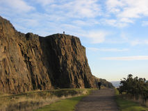 crags edinburgh salisbury royaltyfria foton