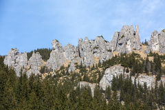 Crags (Mnichy Chocholowskie) in Chocholowska Valley Royalty Free Stock Photo