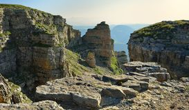 Crags in mountains Royalty Free Stock Photos