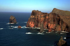 Crags in the ocean Stock Photography