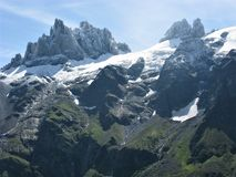Crags and pinnacles near Engelberg, Switzerland Stock Photos