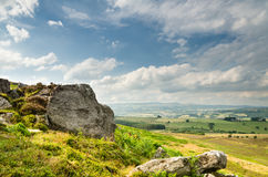 Crags on Simonside Hills Royalty Free Stock Photo