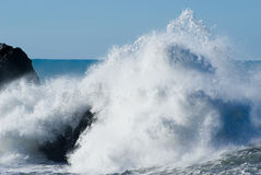 Crahsing Waves. Large Crashing waves on rocks Royalty Free Stock Photography