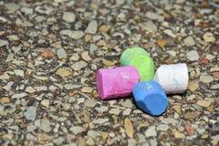 Craie colorée de trottoir Photographie stock libre de droits