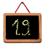 Craie conseil 1er septembre Image stock