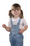 Craie de fixation de petite fille Photographie stock libre de droits