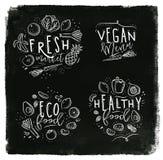 Craie de label d'Eco illustration stock
