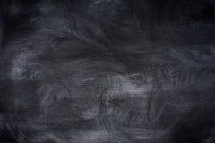 Craie frottée sur le tableau noir Fond abstrait, templ vide Image stock