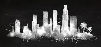 Craie Los Angeles de silhouette illustration de vecteur