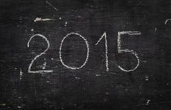 Craie sur le conseil noir : 2015 Images stock