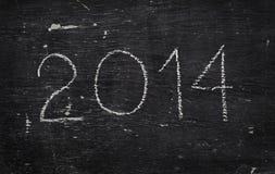 Craie sur le tableau noir : 2014 Image stock