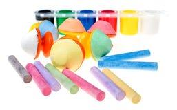 Craies colorées Images libres de droits