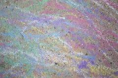 Craies colorées sur la rue Images stock