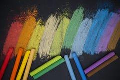 Craies de couleur Photographie stock