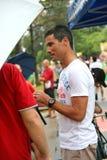 Craig Alexander em Aviva Ironman 70.3 Singapore Imagem de Stock