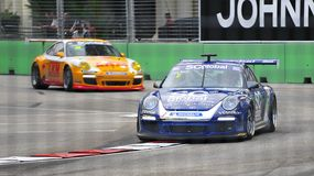 Craig Baird racing at Porsche Carrera Cup Asia Royalty Free Stock Photo