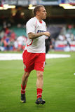 Craig Bellamy Wales. Craig Bellamy of Wales warming up prior to their World Cup Qualifier match against Russia at The Millennium Stadium, Cardiff, September 9 Stock Image