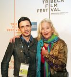 Craig Chester y Sally Kirkland foto de archivo
