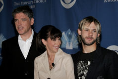 Craig Ferguson, Jennifer Love Hewitt und Dominic Monaghan lizenzfreie stockfotos