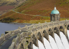 Craig Goch dam in the Elan Valley Royalty Free Stock Photography