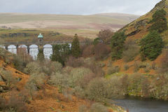 Craig Goch dam in the Elan Valley Stock Image