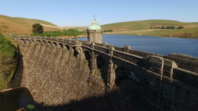 Craig Goch dam, Elan Valley, Wales. stock video footage