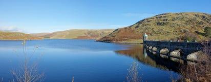 Craig Goch reservoir and dam, Elan Valley Wales. Craig Goch reservoir and dam arches panorama, Elan Valley Wales UK Stock Photos