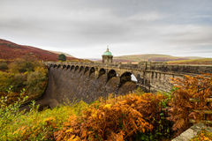 The Craig Goch reservoir and dam Royalty Free Stock Photo