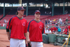 Craig Hansen and Jonathan Papelbon Royalty Free Stock Image