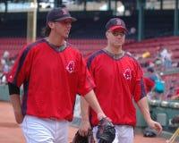 Craig Hansen and Jonathan Papelbon Stock Photo