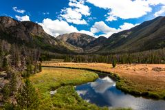 Craig Mountain, Grand Lake, Colorado. This is Craig Mountain in Grand Lake, Colorado. This shot was taken on the path to a lake 6 miles up royalty free stock image