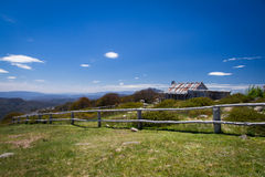 Craig's Hut. The iconic Craig's Hut (as seen in the Man from Snowy River movie) in the Victorian alps, Australia Stock Images