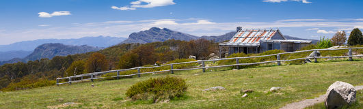Craig's Hut. (as seen in the Man from Snowy River movie) in the Victorian alps, Australia Royalty Free Stock Photo