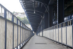 Craigavon桥梁, Derry -伦敦德里,北爱尔兰 免版税图库摄影