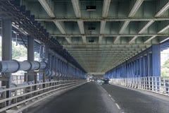 Craigavon-Brücke, Derry - Londonderry, Nordirland Lizenzfreie Stockbilder
