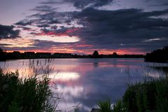 Craigavon Lakes. Co.Armagh, n.Ireland at sunset Stock Image