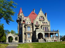 Craigdarroch Castle, Victoria, British Columbia. Historic Craigdarroch Castle was once the imposing residence of the Dunsmuir family in Victoria on Vancouver royalty free stock photography