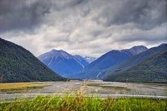 Craigieburn-Strecke, Neuseeland Stockbild