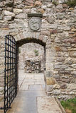 Craigmillar castle gate. stock photos