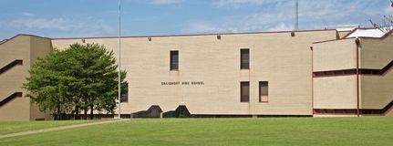 Craigmont高中孟菲斯,田纳西风景  库存图片