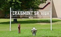 Craigmont高中孟菲斯,田纳西 免版税图库摄影