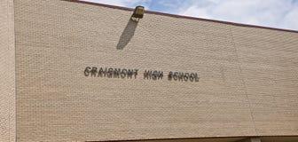 Craigmont高中标志孟菲斯,田纳西 库存图片